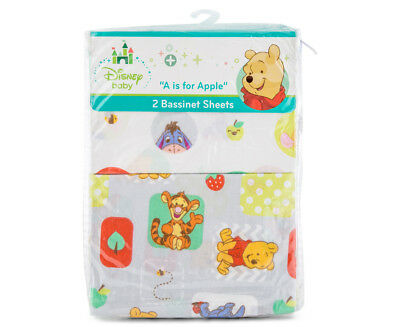 Disney Baby Bassinet Pooh A Is For Apple 2-Piece Sheet Set - Multi