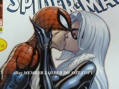 SpiderMan 606 Campbell Panini Euro Variant Black Cat French Kiss Peter Mary Jane
