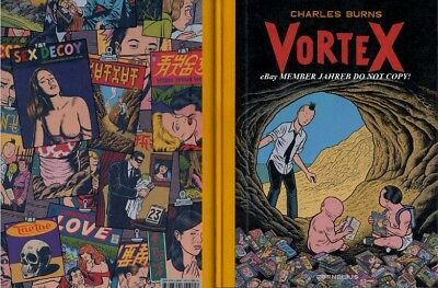 Charles BURNS VORTEX French Exclusive Euro HC Sugar Skull X'Ed Out the Hive NEW