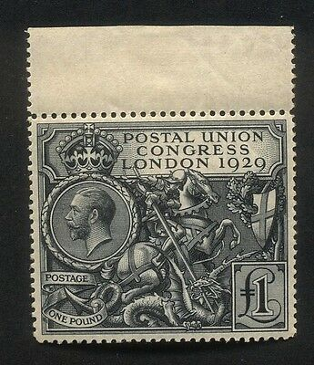 Great Britain One Pound 1929 Postal Union Congress Unmounted Mint SG438