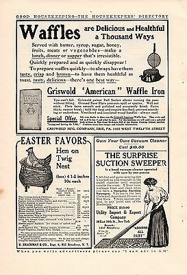 1909 Griswold American Waffle Iron Ad-Erie,pa.