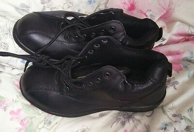 Ladies Vixen Black Safety Work Boots PPE Size 4 BNWOB