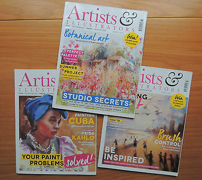 3 Artists & Illustrators Magazines #364, #365, #366 (May, June, July 2016)