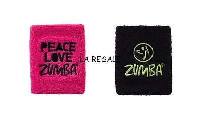 h Zumba ~ Peace Love Wristbands - 2 Pack! ~ Free Domestic Shipping