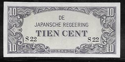 Neth. Indies Japanese Invasion Money 10 Cents 1940's S22 Block