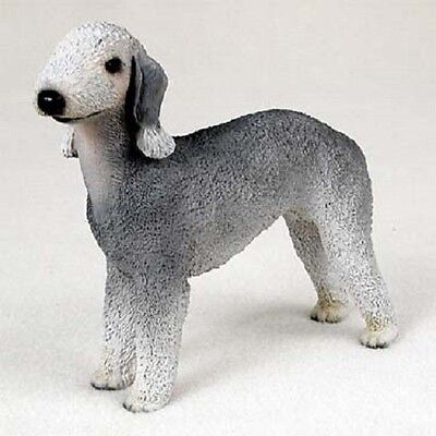 BEDLINGTON TERRIER FIGURINE dog HAND PAINTED Resin Statue puppy COLLECTIBLE New