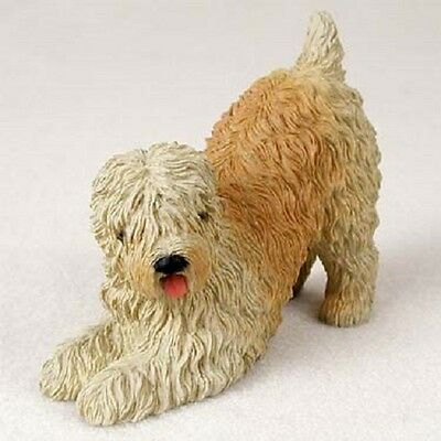 SOFT COATED WHEATEN TERRIER FIGURINE dog HANDPAINTED Resin puppy COLLECTIBLE New