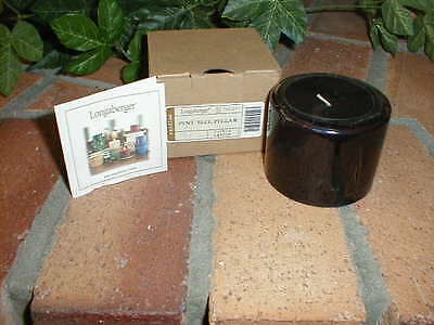 Longaberger Pint Size Pillar Candle Flower Garden Scent NEW in Box