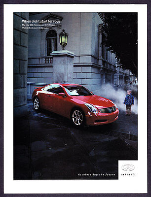 """2002 Infiniti G35 Coupe photo """"When Did It Start for You?"""" promo print ad"""