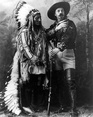 Sitting Bull And Buffalo Bill 8X10 Photo 1885 Native American