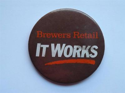 Brewers Retail Ontario Beer Store Employee Vintage Promo Collector Button Canada