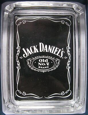 Jack Daniels Card & Glass Ashtray , Key , Ring , Change Tray or Paper Weight