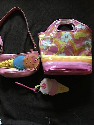 Lot Of Three VINTAGE Gymboree Purses!  Ice cream  & Sunshine Daydreams
