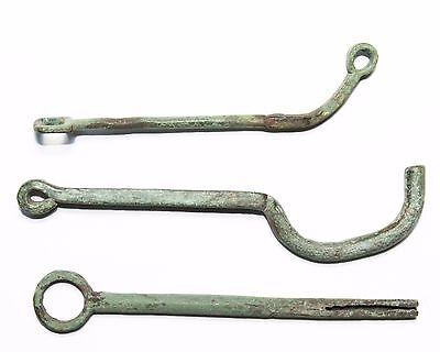 Original Roman 3rd and 4th Century Bronze Padlock Keys