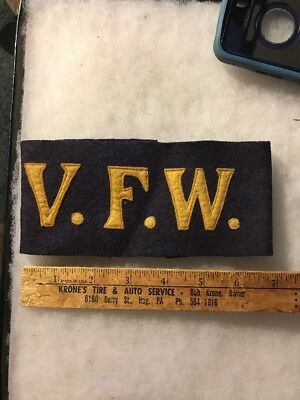 WW1/1920s US Veterans Of Foreign Wars Armband Wool
