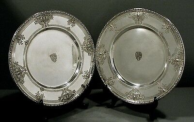 Watson Co. Sterling Dinner Plates  (2)      Navarre c1910          2-8