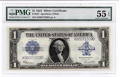 1923 Silver $1 DOLLAR Certificate Note FR 238 PMG 55 EPQ Lot# N 486