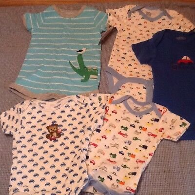 Baby Boy Mixed Lot Onsies & Outfit Newborn-3mos New Condition