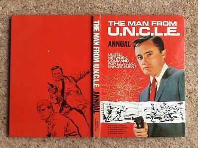 THE MAN FROM UNCLE BOOK ANNUAL 1st One 1966 GOOD  CONDITION