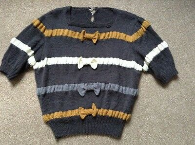 1940's knitted jumper, hand knitted from vintage 40's pattern