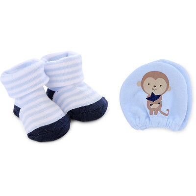 NEW Newborn Baby Boys Child of Mine by Carters Mitten & Bootie Set NB Great Gift