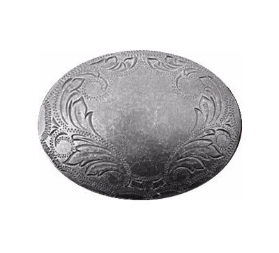 New Pewter Large Western Belt buckle Engraved Southwestern Women's Rodeo Riding