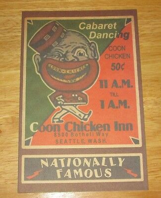 Black Americana Advertising CHICKEN INN MENU Seattle Salt Lake City Portland