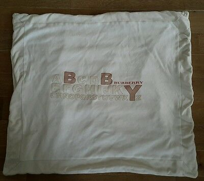GORGEOUS BABY BLANKET BY BURBERRY, rrp £169, WITH A LOGO AND ALPHABET DESIGN