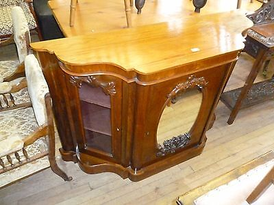 An Antique Victorian Rosewood Credenza Sideboard