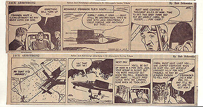 Jack Armstrong by Schoenke - 20 large 5 column daily comic strips - Oct. 1947