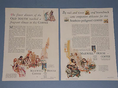 7 1926-1930 Maxwell House Coffee Ads Old South Plantation Theme