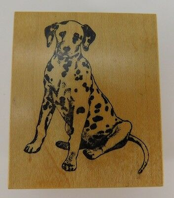Dalmatian Dog Breed Wood Mounted Craft Stamp Fireman Pup PSX E491 CON3