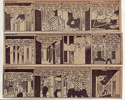 Dick Tracy by Chester Gould - 24 large 5 column daily comic strips - Oct. 1947