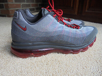 Nike Air Max Dynamic Flywire Tennis Shoes 554715-060 Grey/red Us Mens Size 15