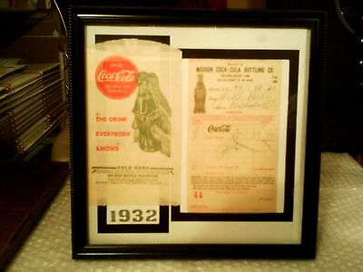Coca - Cola Rare Original 1930's Framed Memorabilia Display #1 - Excellent!