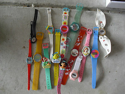 Lot of 14 Children Character Theme Wrist Watches LOOK