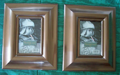 2 FRAMES   BRONZE  PHOTO / PICTURE Holds 4 X 6 photo Thick Frame Lot of 2  NEW