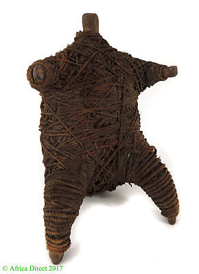 Matakam Divination Doll Rope Wrapped Iron Cameroon African Art