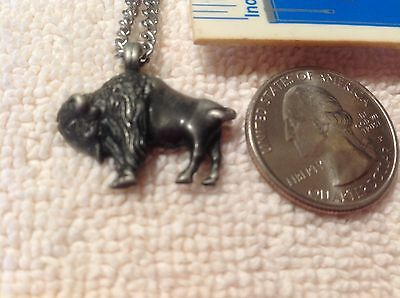 "Buffalo Bison Pendant Necklace on 20"" Chain"