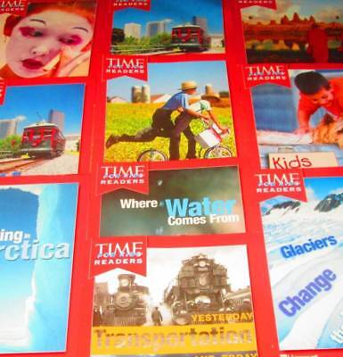 TIME READERS for KIDS Lot of 10-HARCOURT/SOFTCOVERS-Leveled 3rd Grade