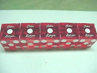 Set of 5 BEAU RIVAGE HOTEL & CASINO Biloxi Dice Pre-Katrina 2001