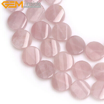 """16mm Twist Flat  Coin Natural Gemstone Loose Beads Jewelry Making Strand 15"""""""