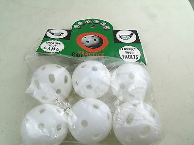 Vintage Practice Retro Golf Balls Pack Correct Your Faults