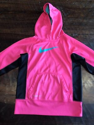 Girls Sz Large Hot Pink And Black Nike Dri Fit Jacket