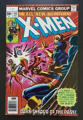X-Men #106 - New vs. Old X-Men  -  (Aug 1977, Marvel) - NM