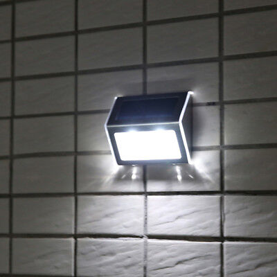2X Stainless Steel Solar Power LED Motion Sensor Garden Outdoor Wall Light Lamp