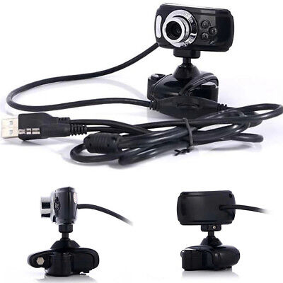USB HD Webcam Web Cam Cameras With Clip Stand & Mic for Computer PC Laptop LCD