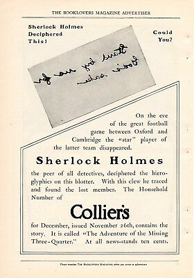 1904 Colliers Sherlock Holmes Ad-Can You Decipher This ?