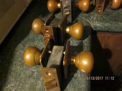 ONE 1 Sargent Antique Vintage Keyed Brass Door Knobs Hardware ~HEAVY  3 x 3