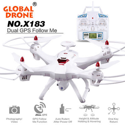 Super GPS Global DroneX183 Quadcopter WiFi FPV 1080P Camera Brushless Helicopter